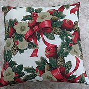 Для дома и интерьера ручной работы. Ярмарка Мастеров - ручная работа Новогодняя подушка. Handmade.