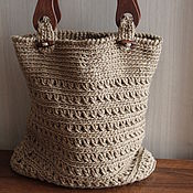Сумки и аксессуары handmade. Livemaster - original item Bag-basket of jute