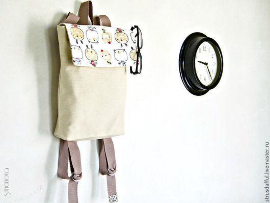 рюкзак городской текстильный, женский рюкзак, рюкзак купить, канвас, сумки Анастасии Симоновой,  Ярмарка Мастеров
