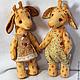 Игрушки животные, ручной работы. Ярмарка Мастеров - ручная работа. Купить Жираф Арсений и жирафа Марфа. Handmade. Жираф, холофайбер