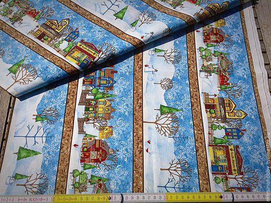 Новогодняя бордюрная ткань для пэчворка
