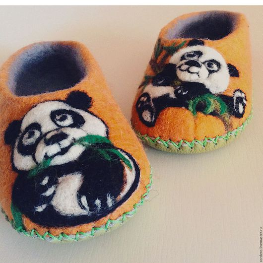 Тапочки валяные купить. Тапочки валяные с пандами. Детские тапочки валяные. Тапочки валяные из шерсти. Ручная работа. Тапочки на заказ. Хэндмэйд.Handmade.