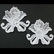 Материалы для творчества handmade. Livemaster - original item Applique embroidery patch rose lace decal. Handmade.