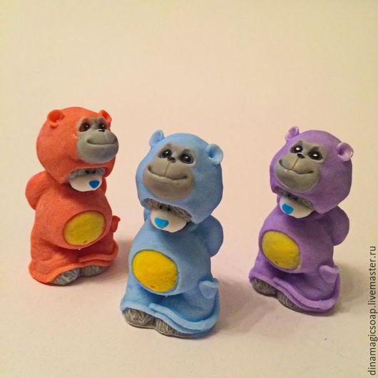 Мыло ручной работы. Ярмарка Мастеров - ручная работа. Купить новогоднее мыло Мишка в костюме обезьянки. Handmade. Разноцветный