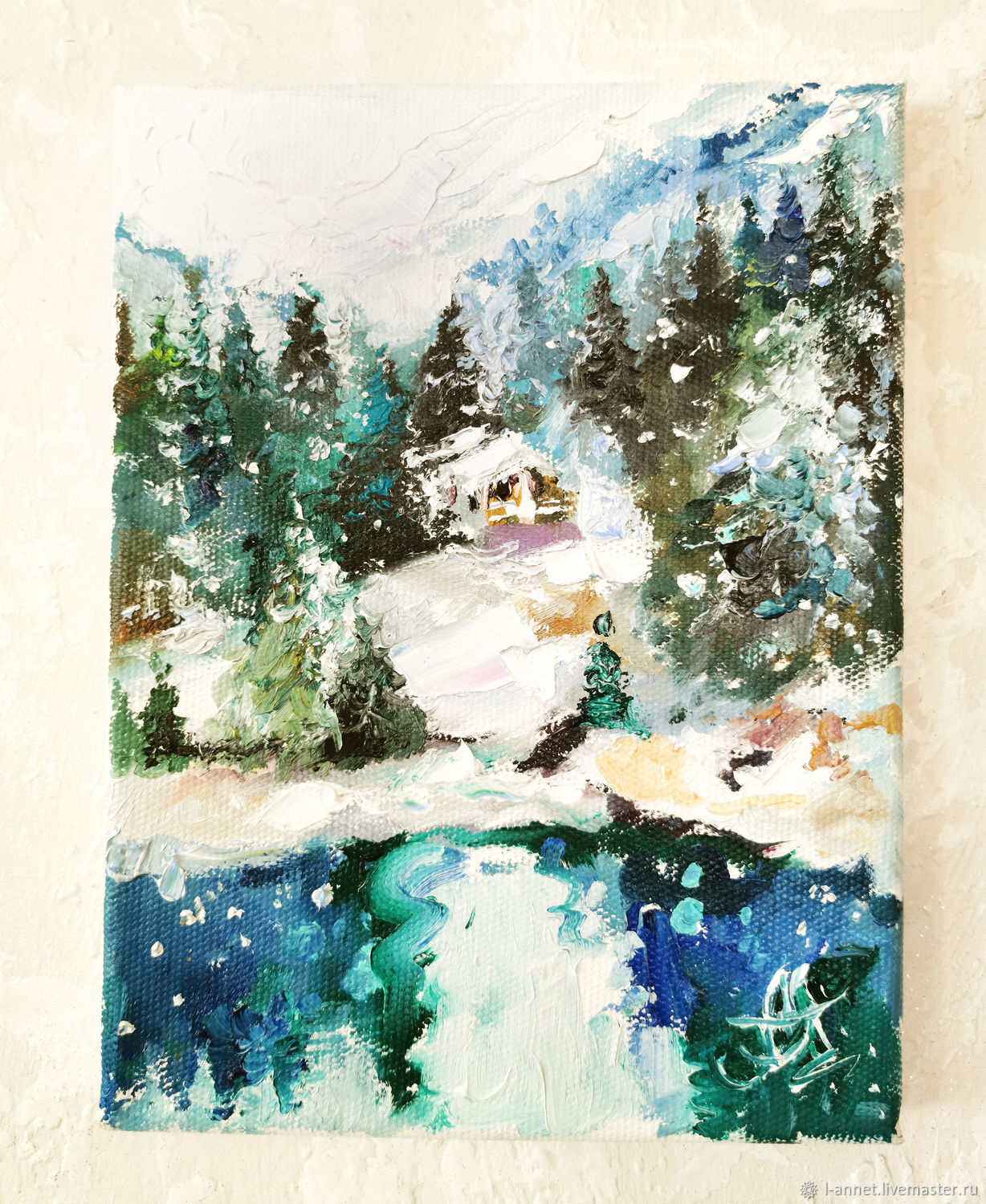 Place, cozy snow, oil painting, Pictures, Moscow,  Фото №1