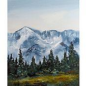 Картины и панно handmade. Livemaster - original item Oil painting of the mountain North Mountain Landscape. Handmade.