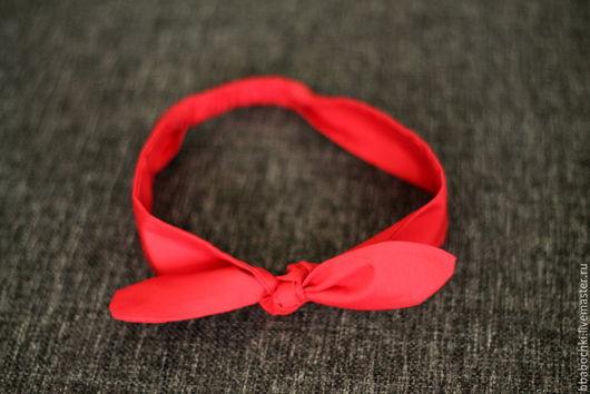 Повязки ручной работы. Ярмарка Мастеров - ручная работа. Купить Повязка на голову (солоха) красная однотонная. Handmade. Ярко-красный