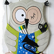 Для дома и интерьера ручной работы. Ярмарка Мастеров - ручная работа Сова с кармашками. Handmade.