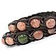 Set of Bracelets Shambala leather with sun stone and jade. Padrocina February 23. Gift on March 8