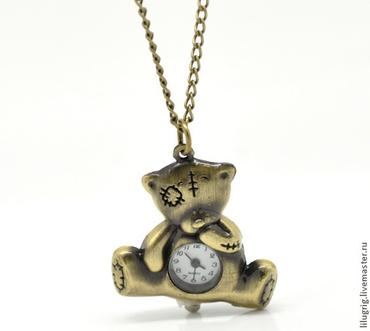 """Часы ручной работы. Ярмарка Мастеров - ручная работа. Купить Часы-кулон-брелок """"Тедди"""". Handmade. Разноцветный, часы-кулон"""