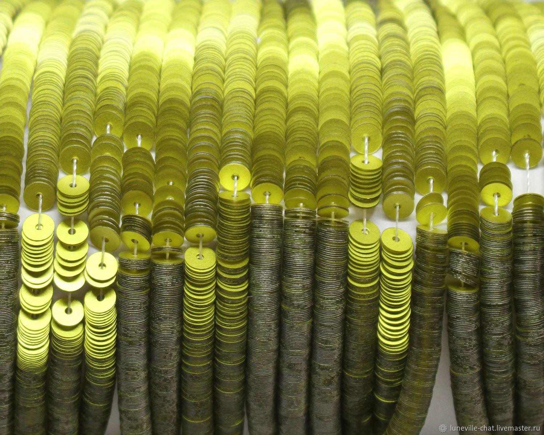 Вышивка ручной работы. Ярмарка Мастеров - ручная работа. Купить Французские пайетки 4 мм матовый металлик 10056. Handmade.
