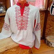 Русский стиль ручной работы. Ярмарка Мастеров - ручная работа рубаха мужская с вышивкой обережной. Handmade.