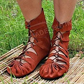 Обувь ручной работы handmade. Livemaster - original item Moccasins made of genuine leather in Terracotta. Handmade.