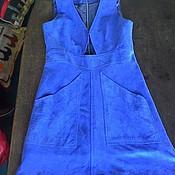 Одежда ручной работы. Ярмарка Мастеров - ручная работа Платье- сарафан из замши. Handmade.