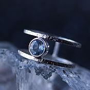 Украшения handmade. Livemaster - original item Textured silver ring with sky Blue Topaz. Handmade.