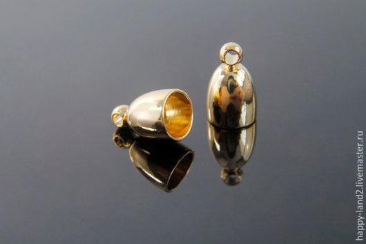 Для украшений ручной работы. Ярмарка Мастеров - ручная работа. Купить Концевик на шнур 4,5 мм, 2 покрытия , Южная Корея. Handmade.