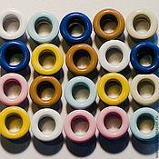 Фурнитура для шитья ручной работы. Ярмарка Мастеров - ручная работа Блочки, люверсы цветные диаметр 5мм. Handmade.