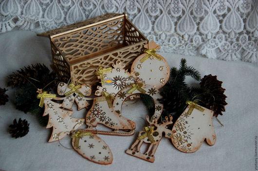 """Новый год 2017 ручной работы. Ярмарка Мастеров - ручная работа. Купить Подарочный набор """"Ivory&Gold"""" в ажурной шкатулке. Handmade."""