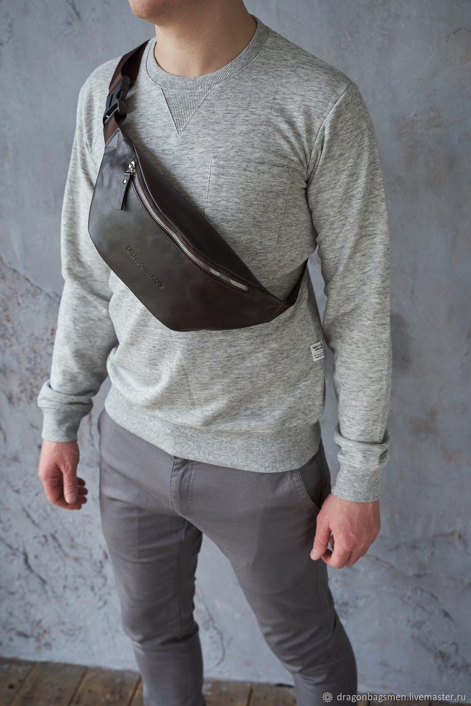 Men's chest bag 'Foster' (Brown), Men\'s bag, Yaroslavl,  Фото №1