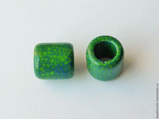 Для украшений ручной работы. Ярмарка Мастеров - ручная работа. Купить Бусина керамическая, отверстие 10 мм (БКЖ3). Handmade.