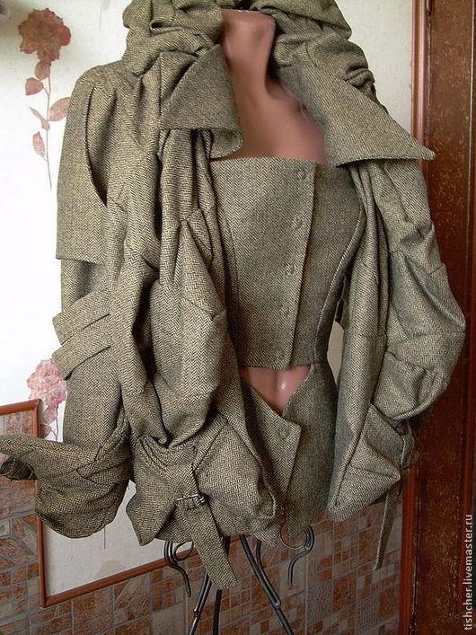 """Верхняя одежда ручной работы. Ярмарка Мастеров - ручная работа. Купить Куртка-жакет из твида """"Вивьен Вествуд 2"""". Handmade."""