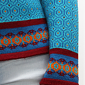 Одежда handmade. Livemaster - original item Jumper knitted womens with Oriental ornaments Morocco, the wool. Handmade.