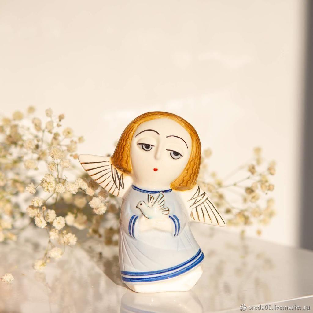 Ангел с голубкой Статуэтка подарок к Пасхе, Статуэтка, Сергиев Посад,  Фото №1
