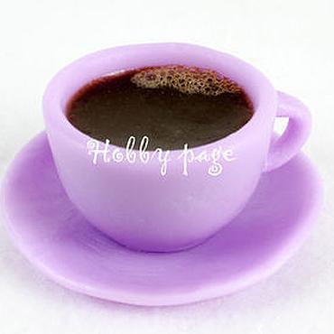 Материалы для творчества ручной работы. Ярмарка Мастеров - ручная работа Силиконовая форма для мыла Чашка с блюдцем мини. Handmade.