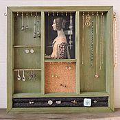 Для дома и интерьера ручной работы. Ярмарка Мастеров - ручная работа Моё - органайзер-витрина для украшений. Handmade.