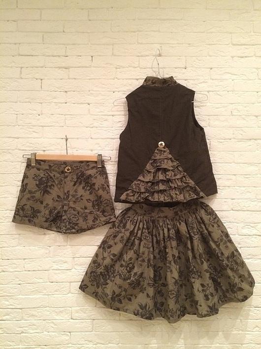 Одежда для девочек, ручной работы. Ярмарка Мастеров - ручная работа. Купить Костюм. Handmade. Зеленый, костюм для девочки, детская одежда