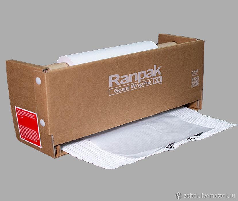 Geami EX Mini двухслойная упаковочная бумага (белая/белая), 134 м, Упаковочная бумага, Красногорск,  Фото №1