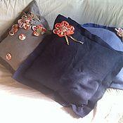 Для дома и интерьера ручной работы. Ярмарка Мастеров - ручная работа комплект  из 3 чехлов на подушки Лен. Handmade.