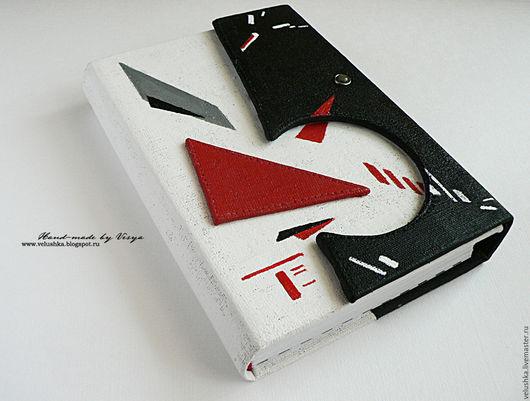 Блокноты ручной работы. Ярмарка Мастеров - ручная работа. Купить Супрематический блокнот. Handmade. Комбинированный, конструктивизм, ткань