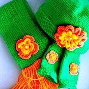 Работы для детей, ручной работы. Ярмарка Мастеров - ручная работа Вязаный комплект для девочки 1-2 года Веснянка.. Handmade.