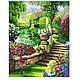 """Пейзаж ручной работы. Ярмарка Мастеров - ручная работа. Купить Картина по номерам """"Райский сад"""". Handmade. Зеленый, раскрашивание по номерам"""