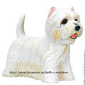 Материалы для творчества handmade. Livemaster - original item Silicone mold for soap West highland white Terrier. Handmade.