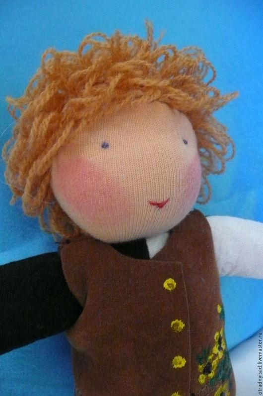 Вальдорфская игрушка ручной работы. Ярмарка Мастеров - ручная работа. Купить Кукла в комбинезоне Петя. Handmade. Вальдорфская кукла