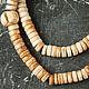 Для украшений ручной работы. Ярмарка Мастеров - ручная работа. Купить Тибетские бусины-диски из старой кости яка, 10 мм. Handmade.