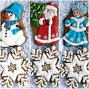 Сувениры и подарки handmade. Livemaster - original item Mini Christmas cakes with Snowflakes. Handmade.