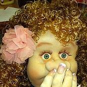 Для дома и интерьера ручной работы. Ярмарка Мастеров - ручная работа Добруша-держатель для туалетной бумаги (кукла -мадам фу-фу). Handmade.