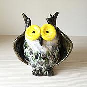 Сувениры и подарки ручной работы. Ярмарка Мастеров - ручная работа Совушка ваза большая. Handmade.