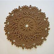 Для дома и интерьера handmade. Livemaster - original item Round bed Mat knitted from a cord. Handmade.
