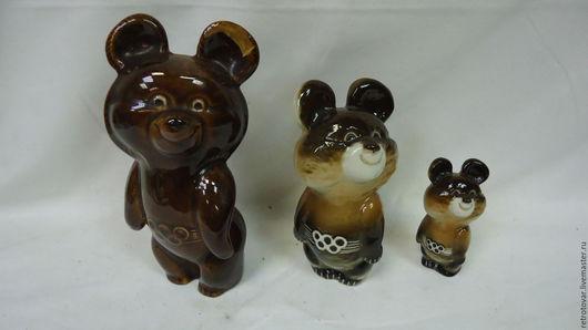 Винтажные предметы интерьера. Ярмарка Мастеров - ручная работа. Купить Три олимпийских мишки. Handmade. Коричневый, олимпиада 80