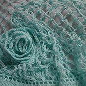 handmade. Livemaster - original item Shawls: Summer shawl, cotton light turquoise. Handmade.
