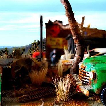 """Сувениры и подарки ручной работы. Ярмарка Мастеров - ручная работа Модели: Диорама: """"Arizona. Route 66 garage."""". Handmade."""