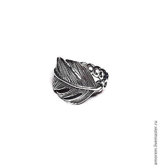 Кольца ручной работы. Ярмарка Мастеров - ручная работа. Купить Модульное кольцо Перо. Handmade. Серебряный, серебро 925 пробы