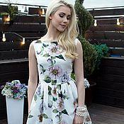 Одежда ручной работы. Ярмарка Мастеров - ручная работа летнее платье, цветочное платье с кружевом. Handmade.