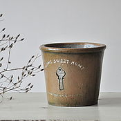 Цветы и флористика handmade. Livemaster - original item A pot of concrete for flowers Provence, planters, shabby chic, vintage. Handmade.