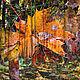 Фотокартины ручной работы. Ярмарка Мастеров - ручная работа. Купить Почтальон осень. Handmade. Ностальгия, осень, почтальон, яркий, лес