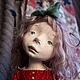 Коллекционные куклы ручной работы. Ярмарка Мастеров - ручная работа. Купить Девочка в красном. Handmade. Авторская ручная работа, ladoll